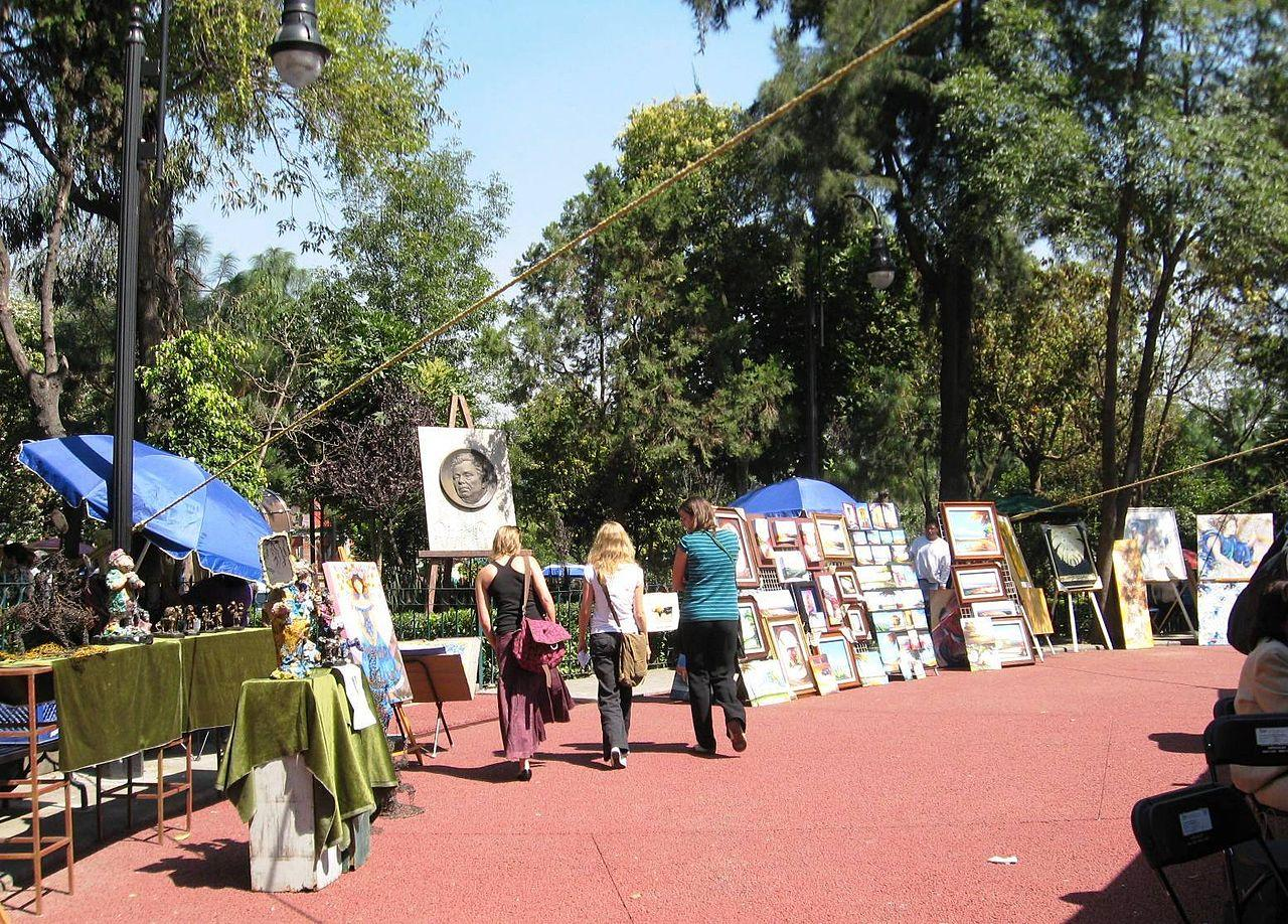 Neighborhoods Mexico City, Colonia San Angel, art market